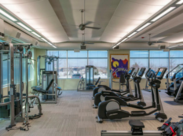 Newly debuted fitness center